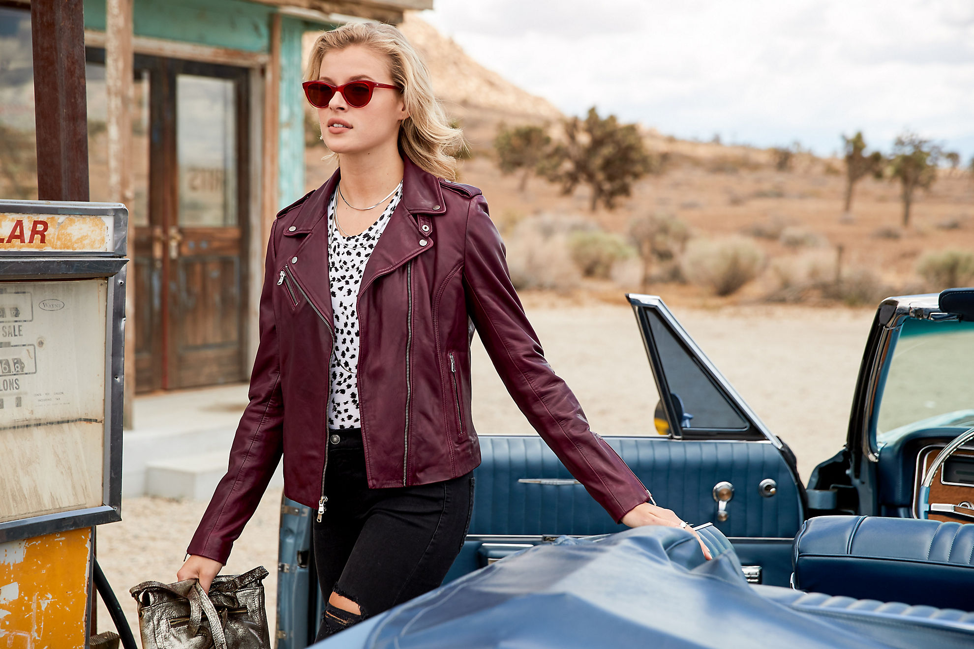 Harper Lambskin Leather Moto Jacket