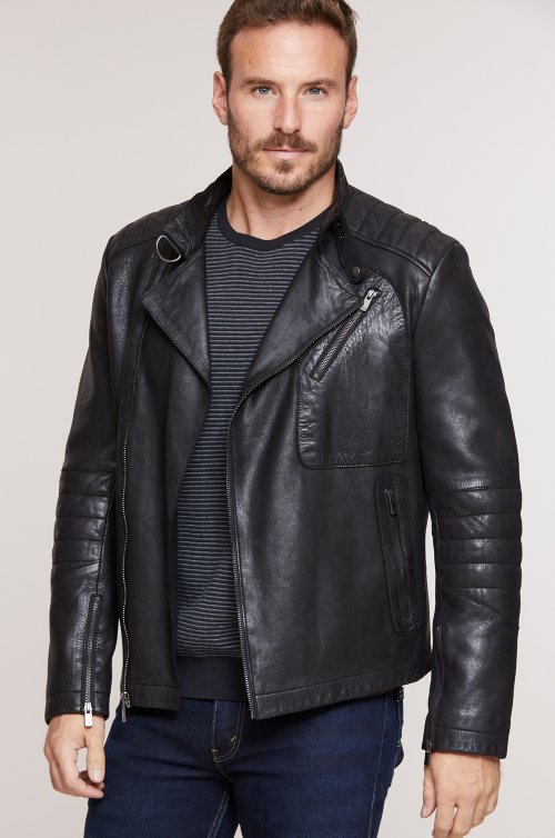Marty Lambskin Leather Moto Jacket