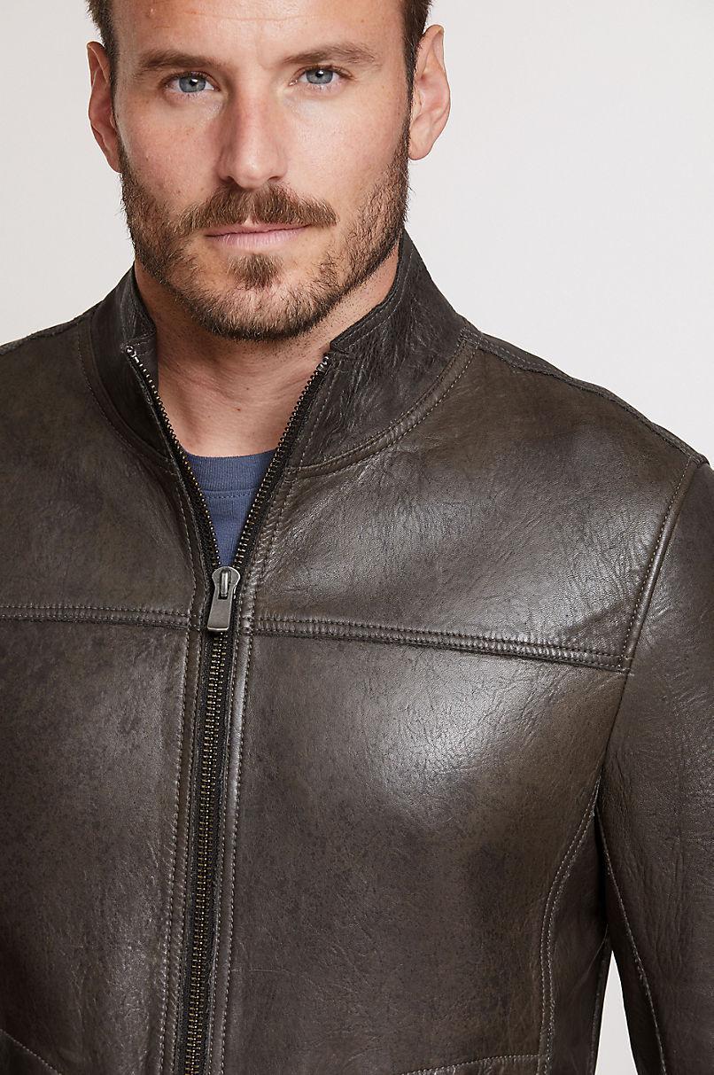 Eddie Lambskin Leather Moto Jacket