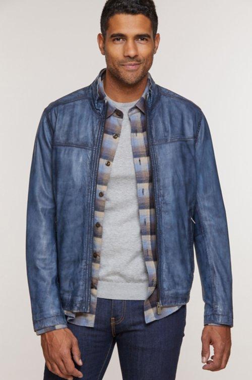 Lucio Lambskin Leather Jacket
