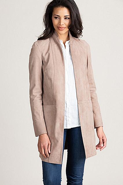 Arabella Reversible Goat Suede Leather Jacket