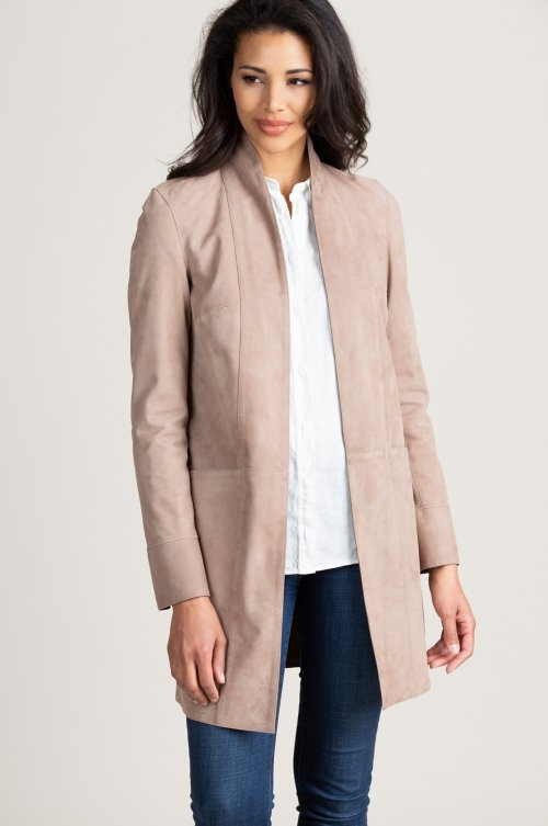 Jessie Reversible Italian Goatskin Suede Leather Jacket