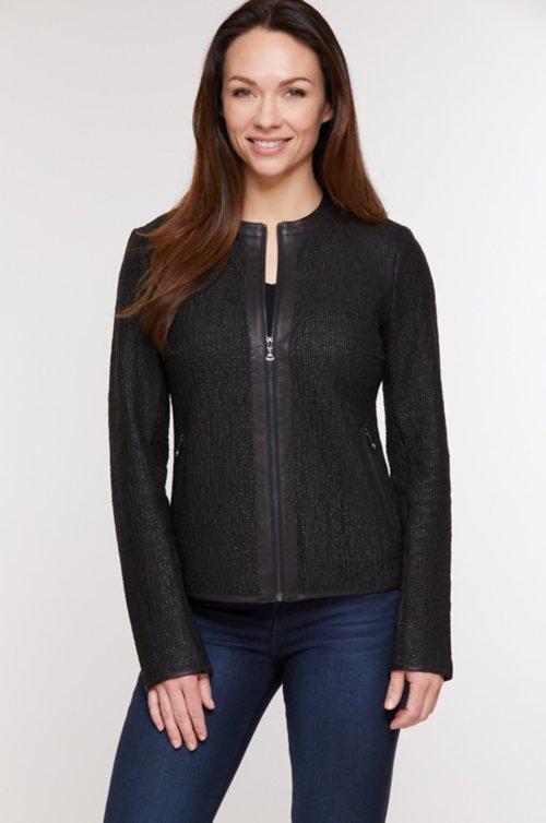 Morgan Lambskin Leather Jacket