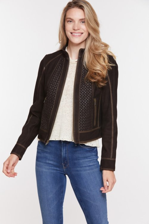 Becca Goat Suede Leather Jacket