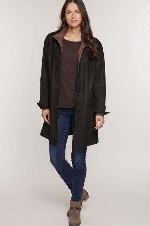 Charlotte Italian Lambskin Leather Coat