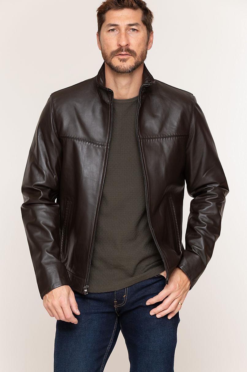 Rolf Italian Lambskin Leather Jacket