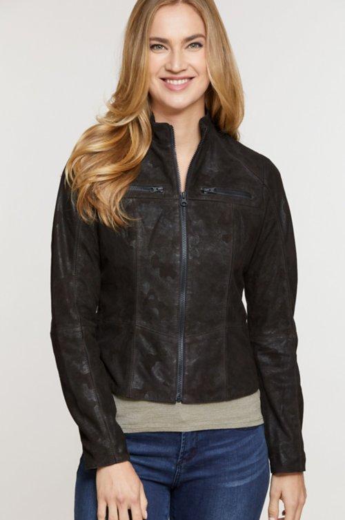 Heather Italian Lambskin Suede Jacket
