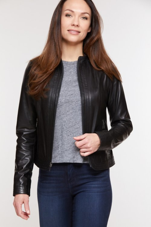Janine Italian Lambskin Leather Jacket