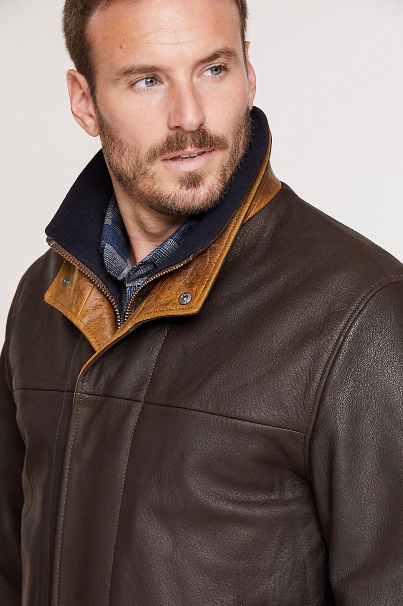 Romano Leather Jacket - Tall (40L-46L)