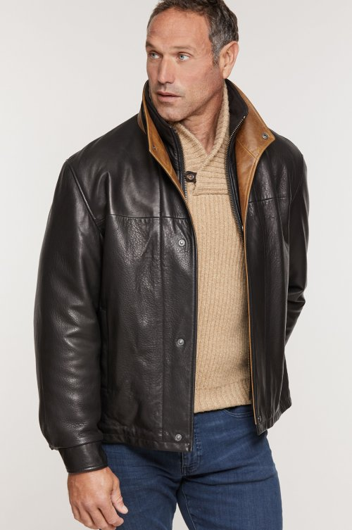 Romano Lambskin Leather Jacket - Tall (40L - 46L)