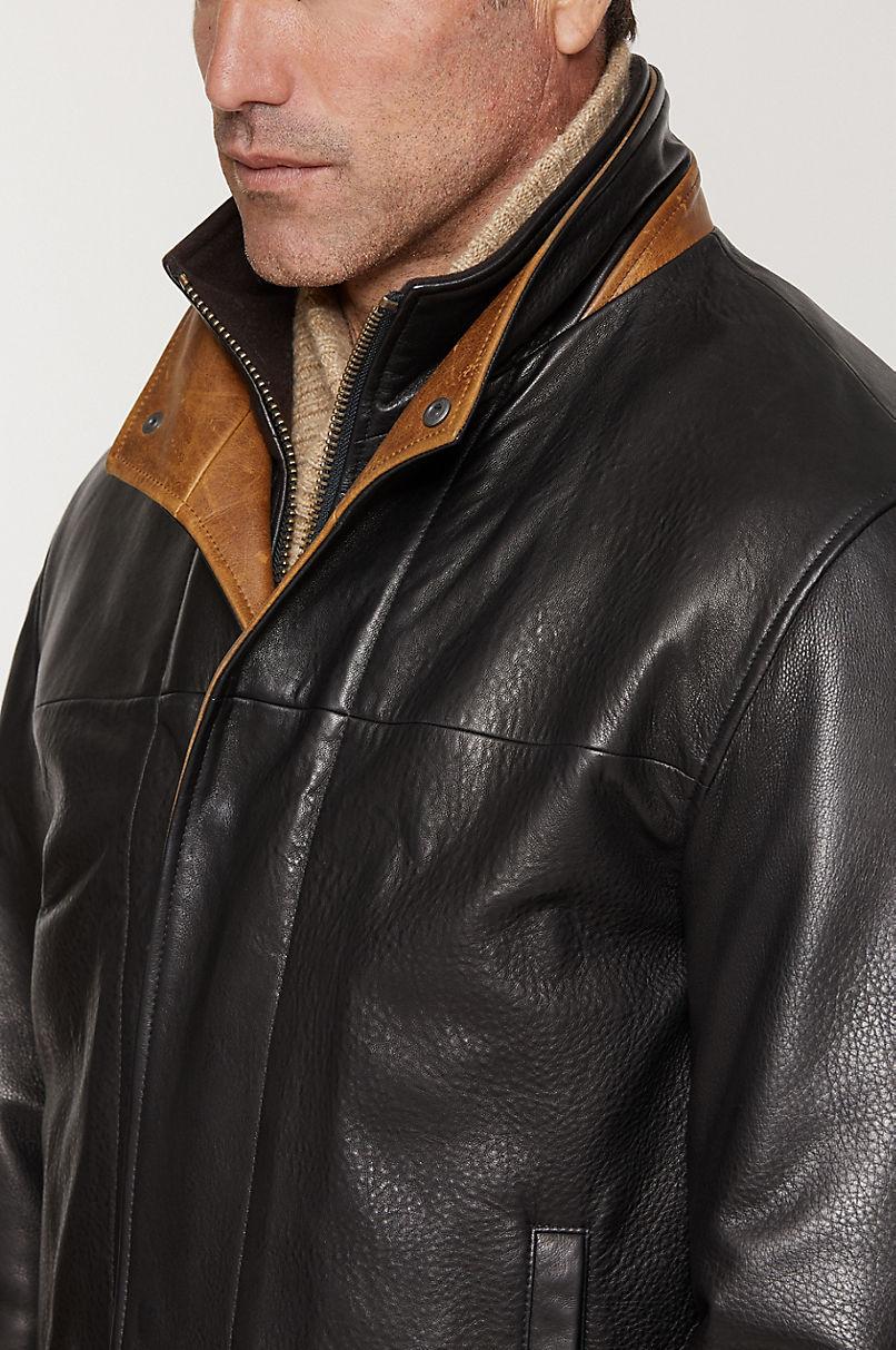 Romano Lambskin Leather Jacket - Tall (40L - 46L)