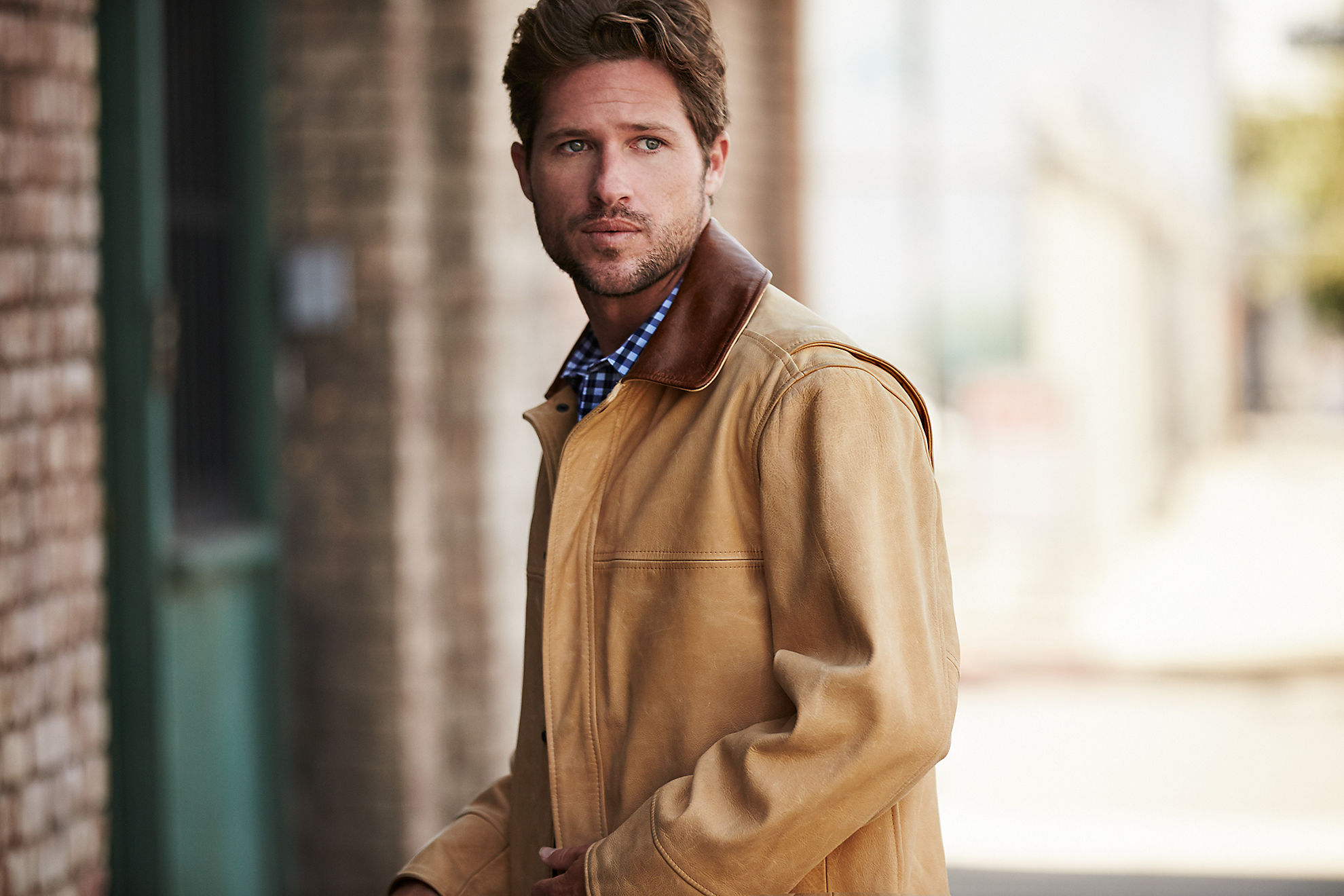 Country Gentleman Calfskin Leather Coat - Big (54 - 56)