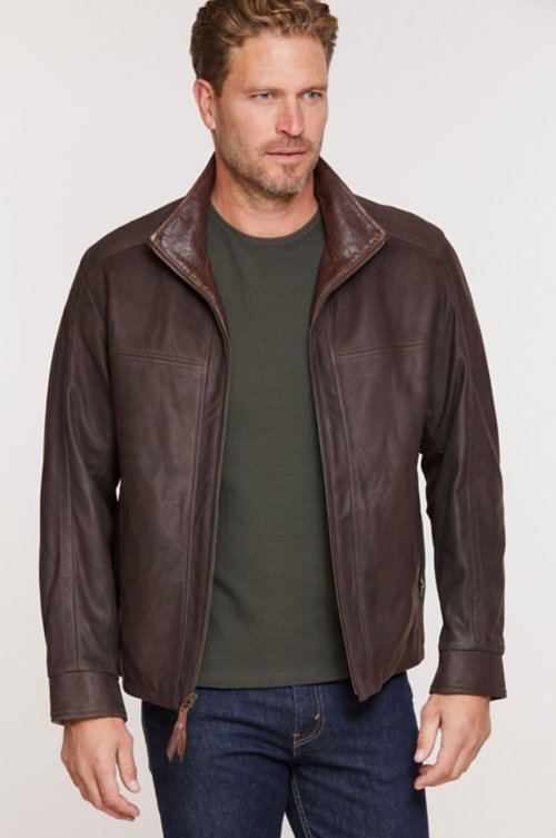 Barcelona Lambskin Leather Jacket