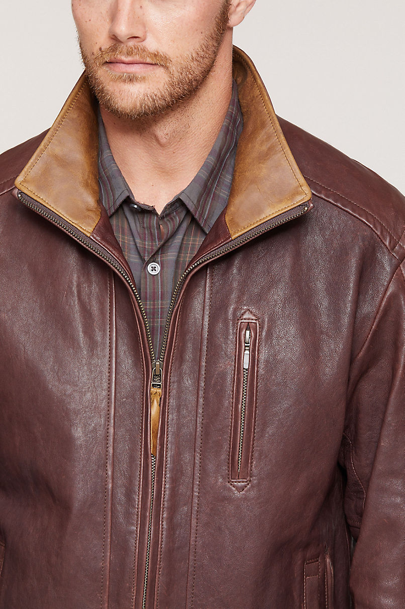 Conor North African Lambskin Leather Jacket