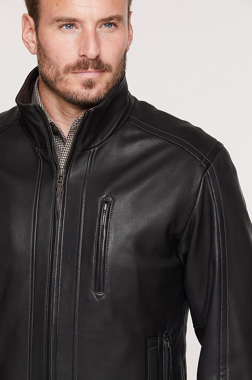 Conor South African Lambskin Leather Jacket