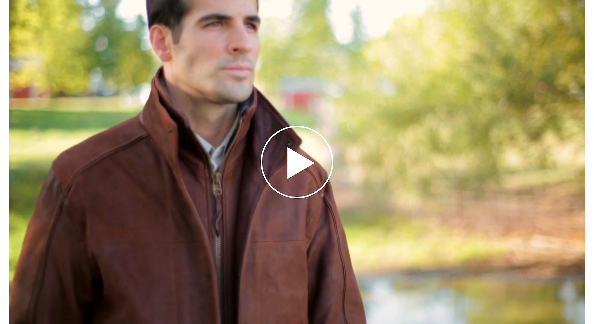 Stuart Leather Jacket with Sheepskin Trim