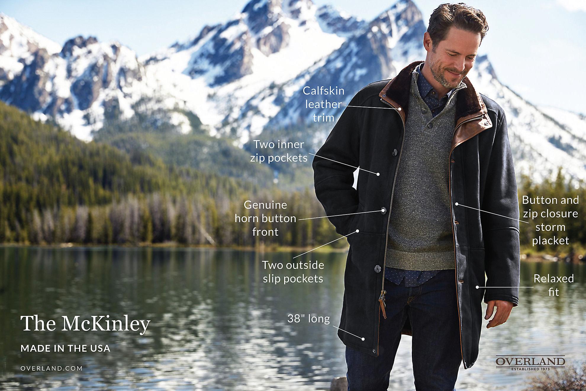 McKinley Black Shearling Sheepskin Coat
