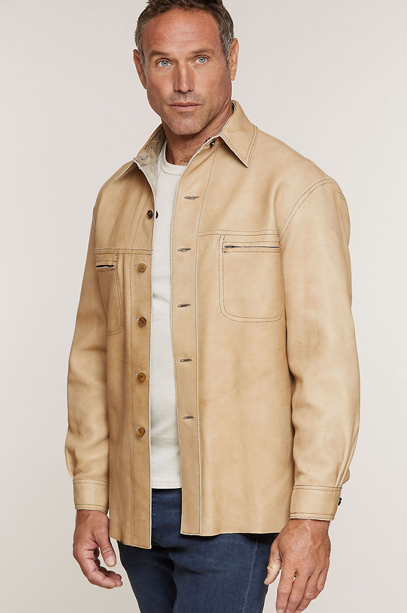 Chase Reversible Lambskin Leather Shirt Jacket - Tall (40L - 48L)