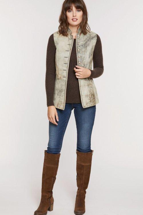 Cheyenne Lambskin Suede Leather Vest
