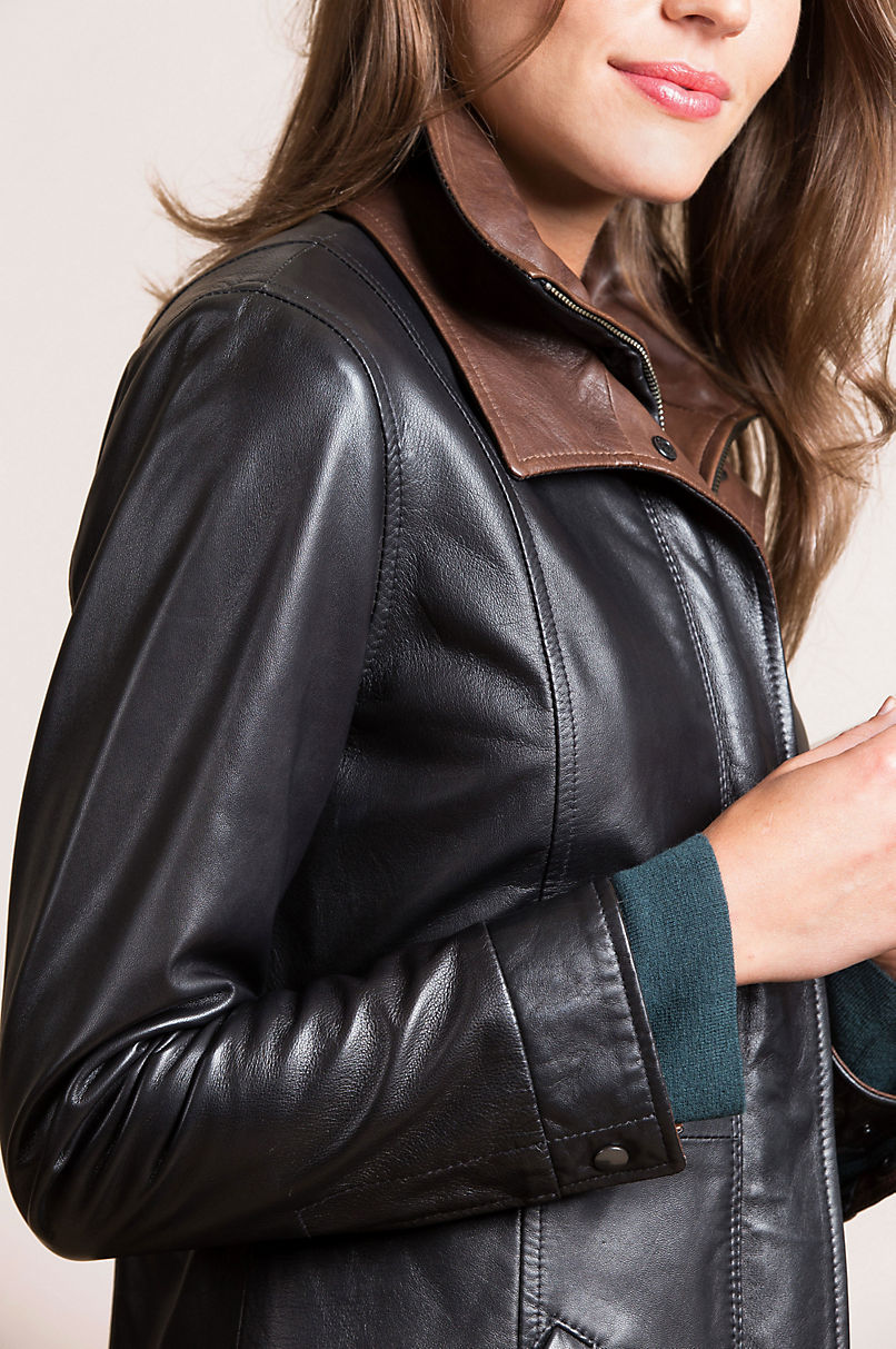 Rory English Lambskin Leather Jacket