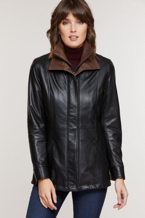 Rory English Lambskin Leather Jacket