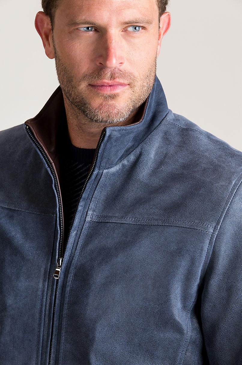 Thomas Distressed Lambskin Leather Jacket