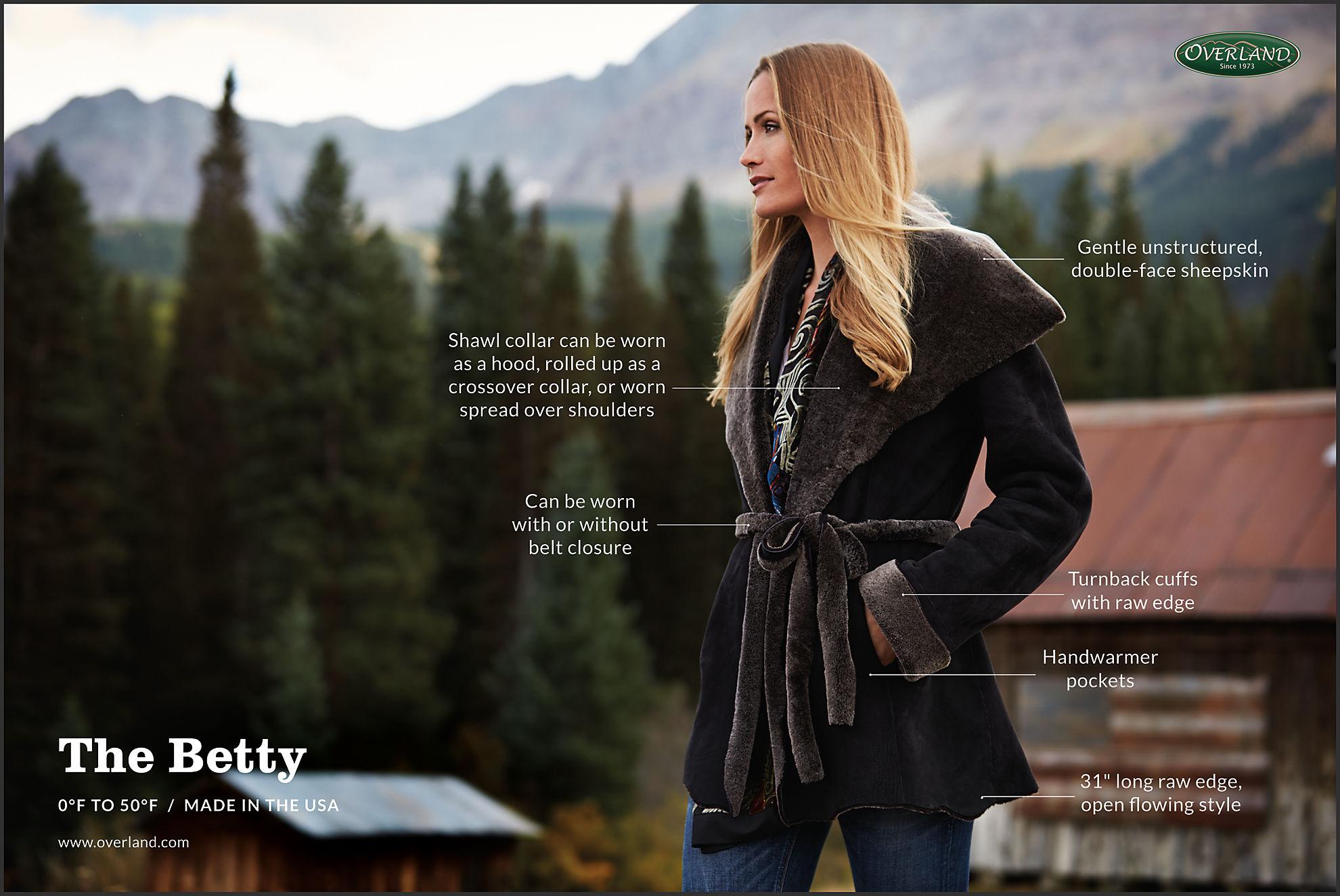 Betty Shearling Sheepskin Coat