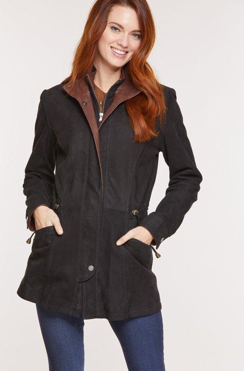 Juniper Lambskin Leather Coat