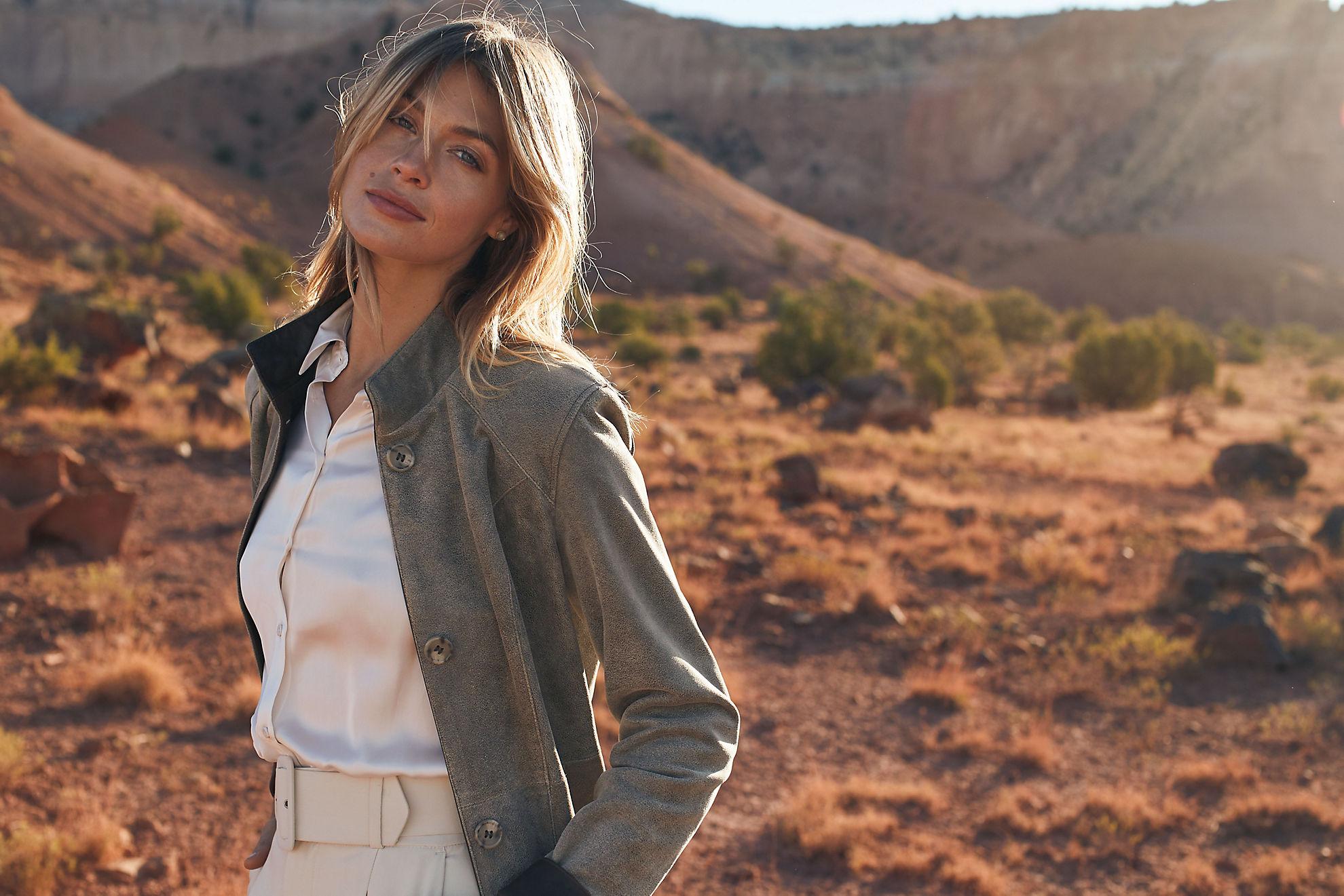 Gwyneth Distressed Italian Lambskin Leather Coat