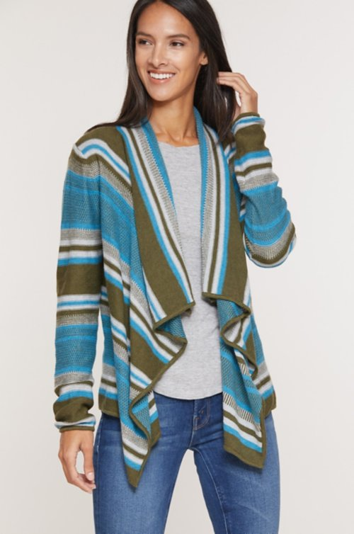 Kelly Organic Peruvian Cotton Cardigan Sweater