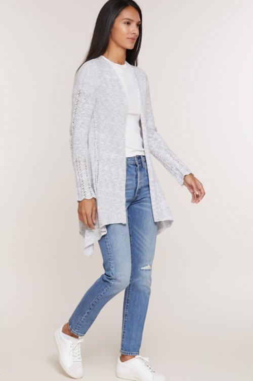 Celine Organic Peruvian Cotton Cardigan Sweater