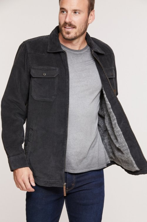 Nash Sherpa-Lined Corduroy Shirt Jacket