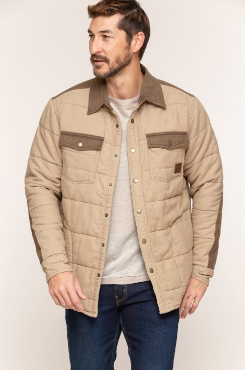 Walker Quilted Cotton Flannel Shirt Jacket