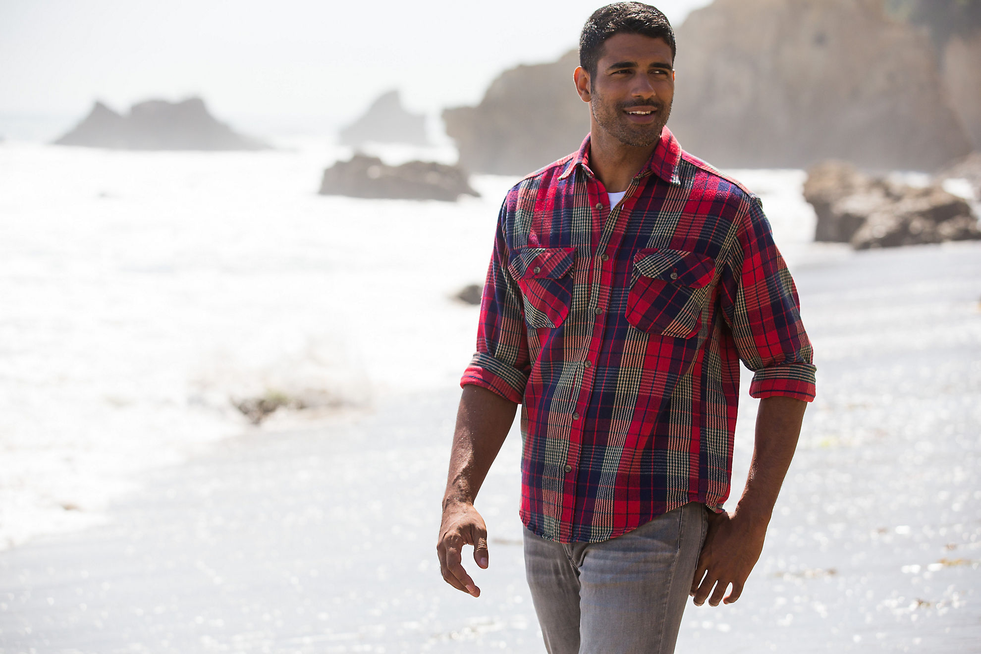 Sawyer Plaid Brushed Cotton Twill Shirt
