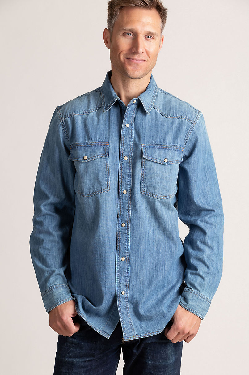 Theron Denim Western Shirt