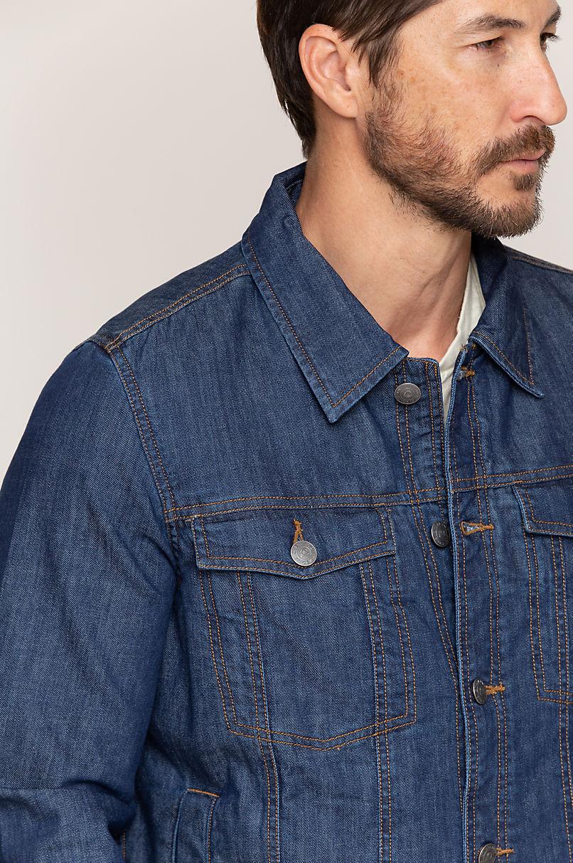 Dylan Stripe Lined Denim Jean Jacket