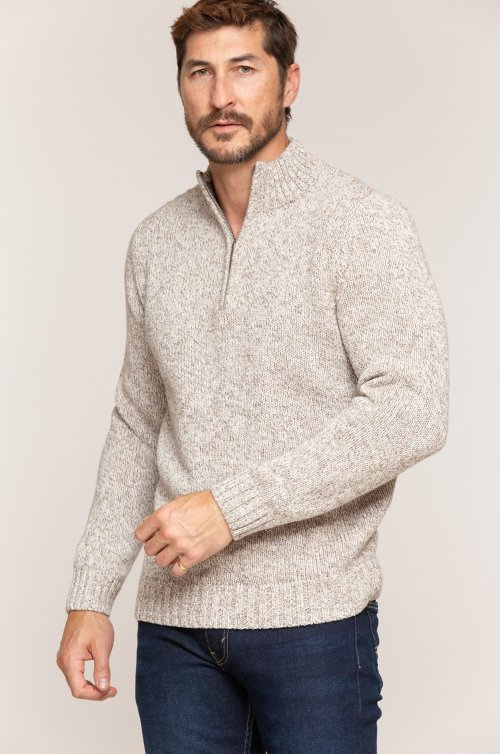 Grant Marled Cotton Pullover Sweater