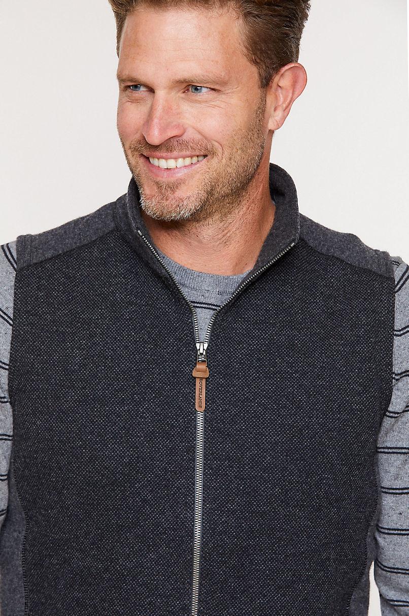 Amerigo Italian Wool-Blend Fleece Vest