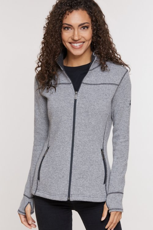Eva Italian Wool-Blend Fleece Jacket