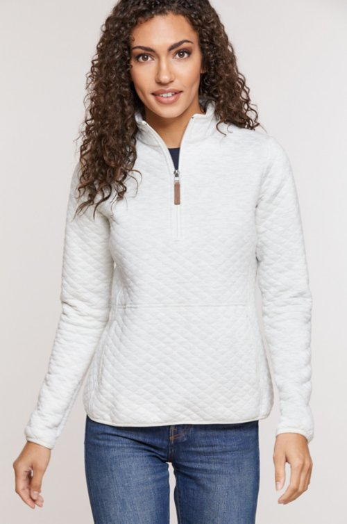 Libby Cotton-Blend 1/4-Zip Front Pullover Shirt