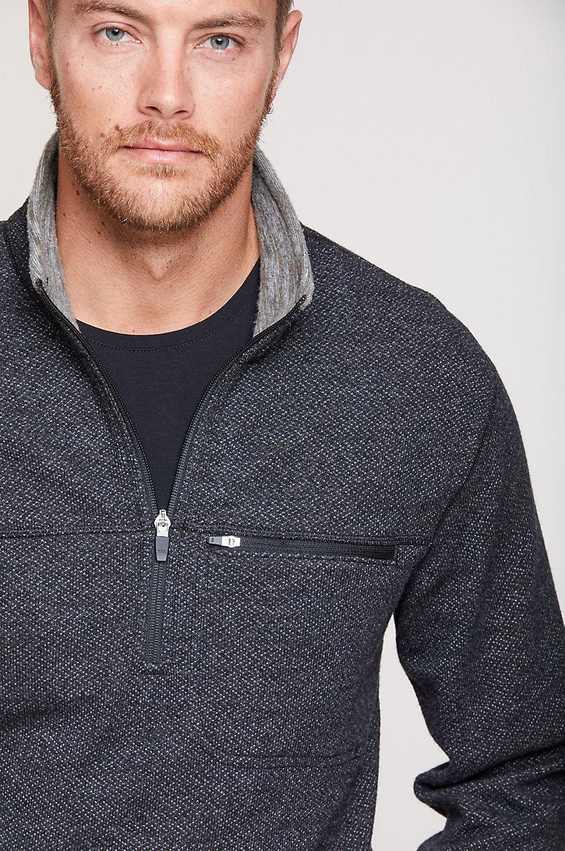Bryson Italian Wool-Blend Fleece Pullover Sweater