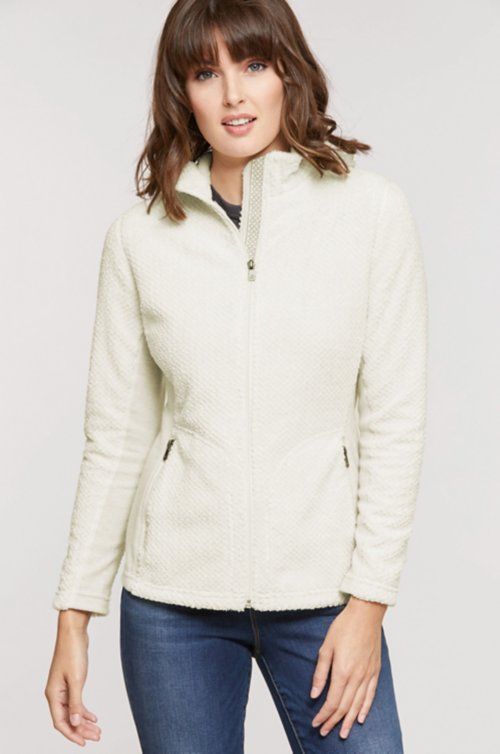 Bora Hooded Italian Wool-Blend Fleece Jacket