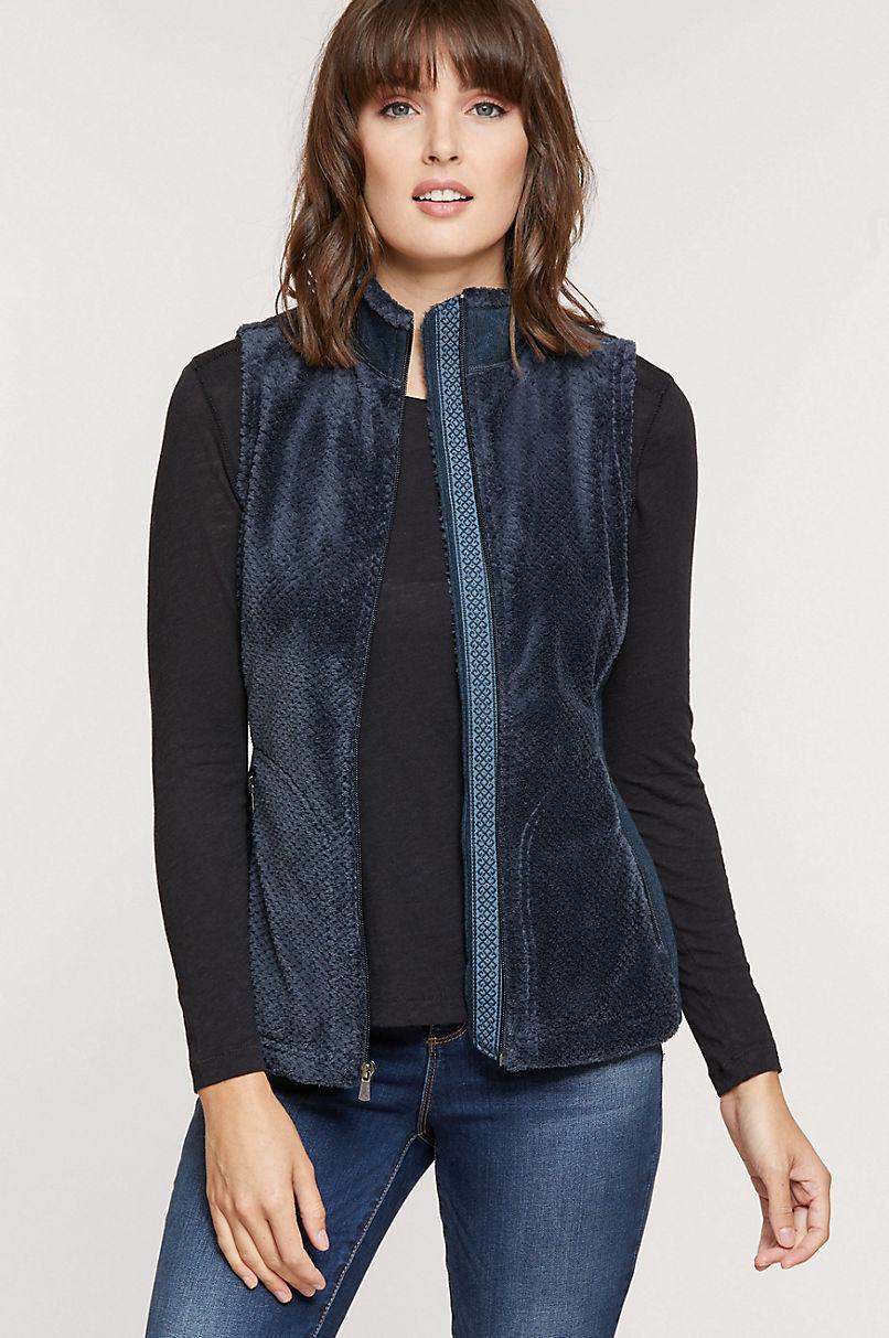 Bora Italian Wool-Blend Fleece Vest