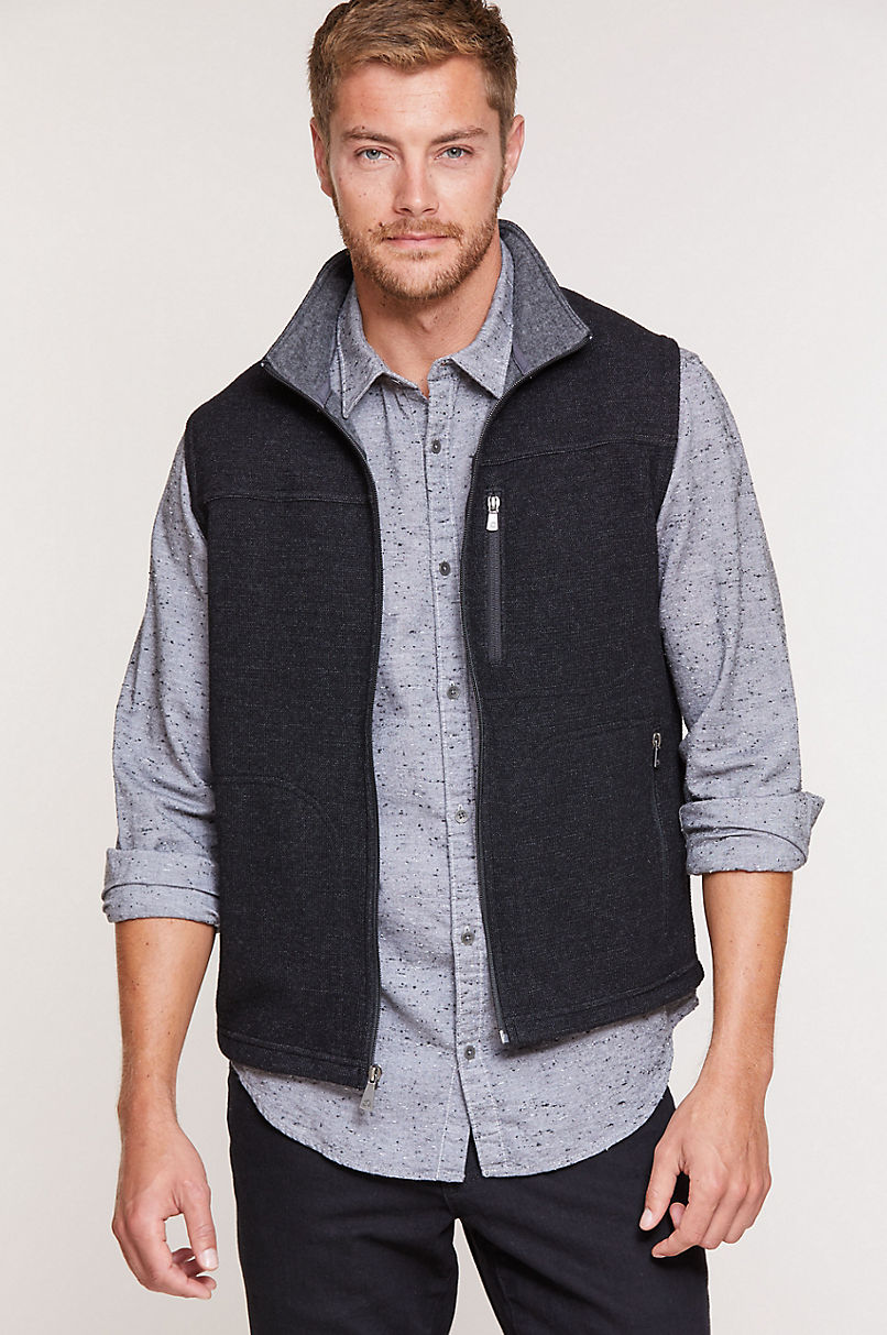 Atlas Italian Wool-Blend Fleece Vest