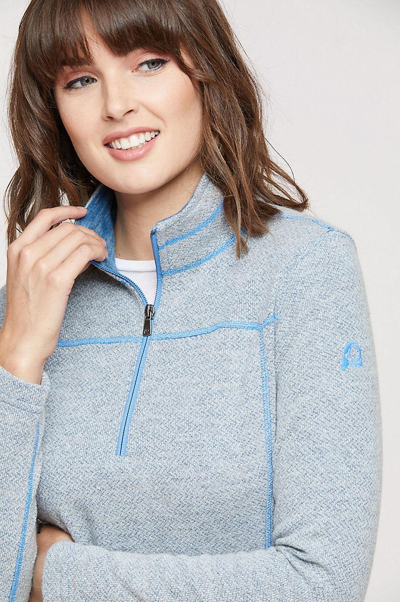 Aubrey Italian Wool-Blend Fleece 1/4-Zip Front Pullover Shirt