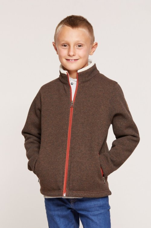 Boy's Maddox Italian Wool-Blend Fleece Jacket