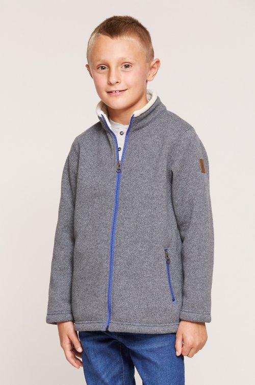 Boy's Maddox Italian Wool-Blend Fleece Jacket