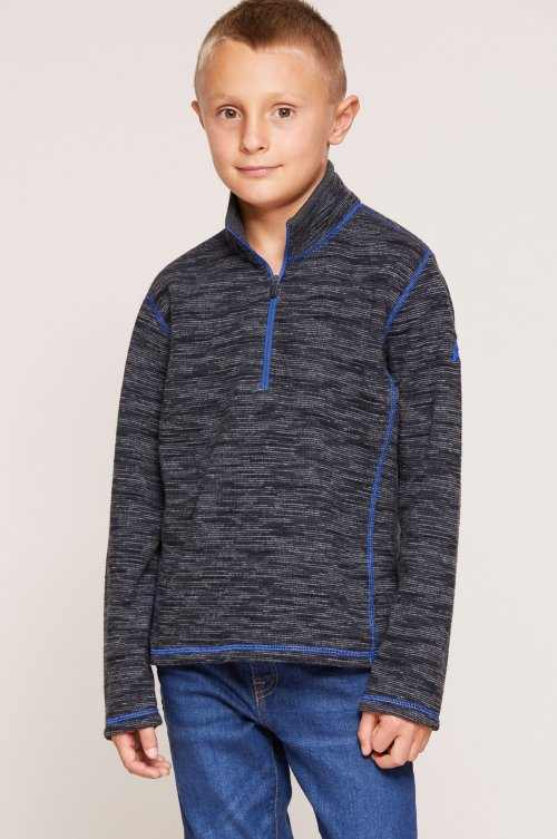 Boy's Adrian Wool-Blend Fleece 1/4-Zip Front Pullover Shirt