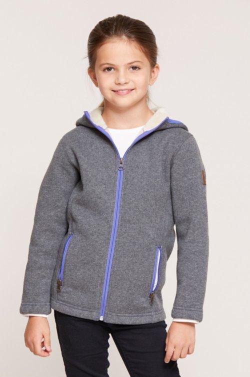Girl's Sloane Hooded Wool-Blend Fleece Jacket