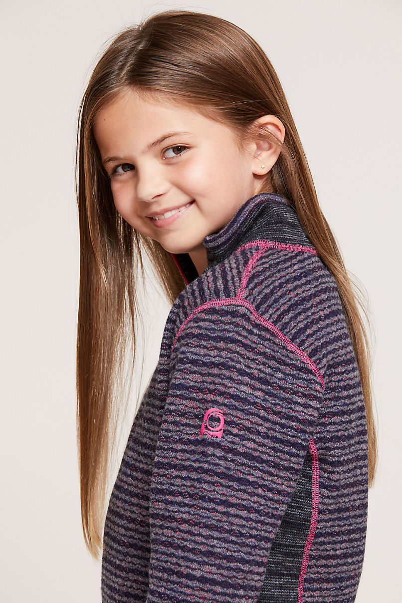 Girl's Willa Wool-Blend Fleece 1/4-Zip Front Pullover Shirt